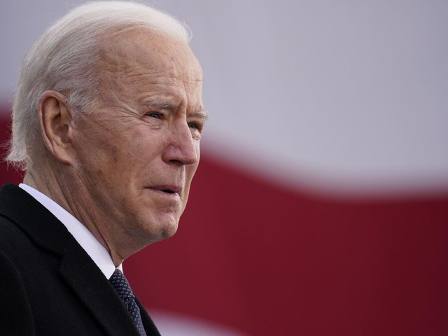 The Latest: Trump doesn't mention Biden in farewell address