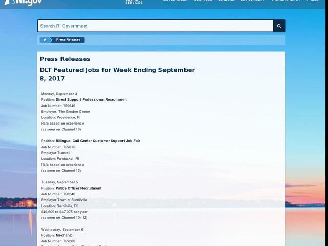 DLT Featured Jobs for Week Ending September 8, 2017