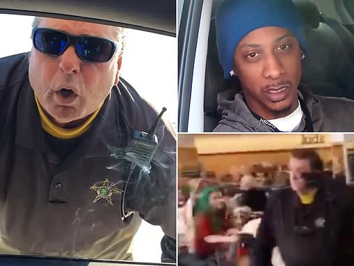 White cop's shocking rant after 'racially profiling' two men in mall parking lot