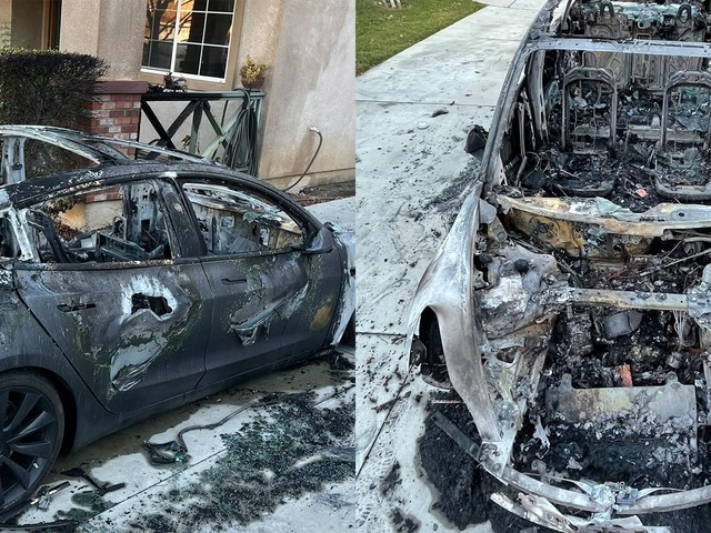 Tesla owner says the company won't respond to his complaint about his car catching on fire