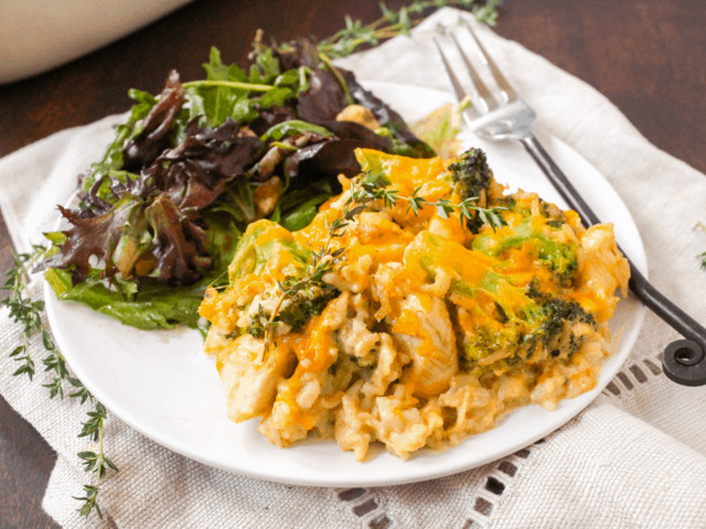 Healthy Chicken Broccoli Rice Casserole