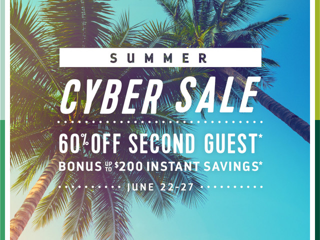 Royal Caribbean's Summer Cyber Sale will offer 60% off second guest and up to $200 instant savings