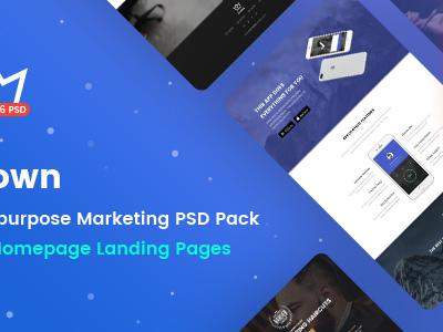 Crown - Multipurpose Marketing PSD Landing Page Pack (Marketing)