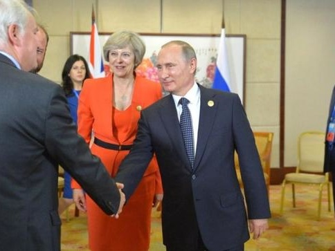 UK's May Takes Parting Shot At Putin In Desperate Diversion From Failure