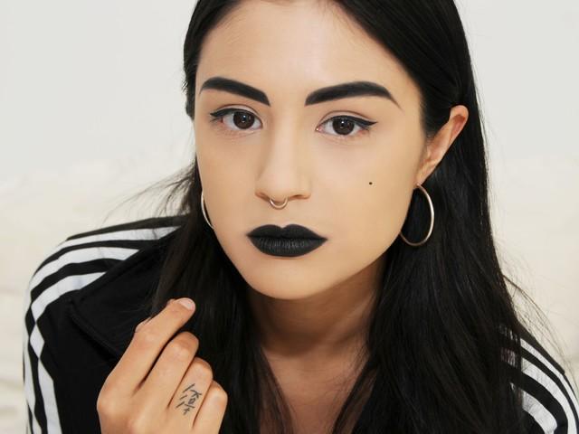 Black Lipstick Underlines Every Word I Say