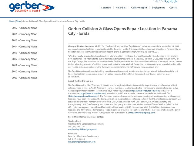 Gerber Collision Glass Opens Repair Location In Glenwood