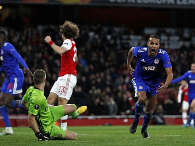 Europa League: Arsenal Knocked Out In Dying Seconds By Olympiacos