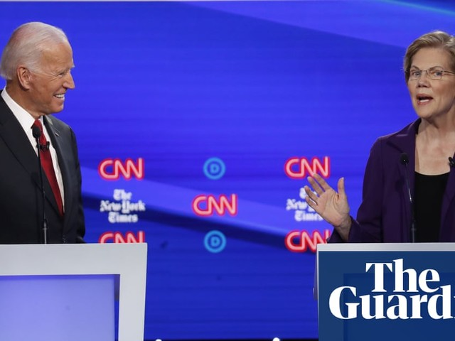 Warren under attack as Democrats spar in largest primary debate in US history