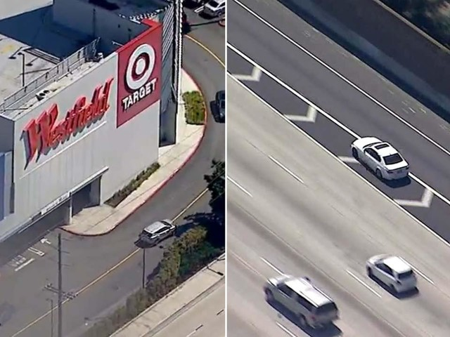 Alleged burglary suspect flees police, ducks into Culver City mall parking lot