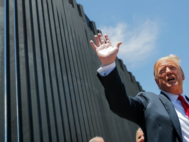 Trump criticizes a Texas border wall segment that is said to be eroding, claiming that it was constructed to make him 'look bad'