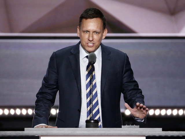 Facebook board member Peter Thiel calls for probe of Google for 'treasonous' acts