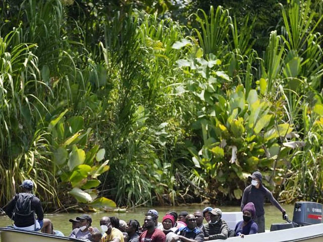 Rising numbers of migrants risk lives crossing Darien Gap