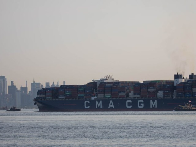 Dozens of cargo ships stuck waiting off New York's coast amid port staff shortages and surging demand for goods