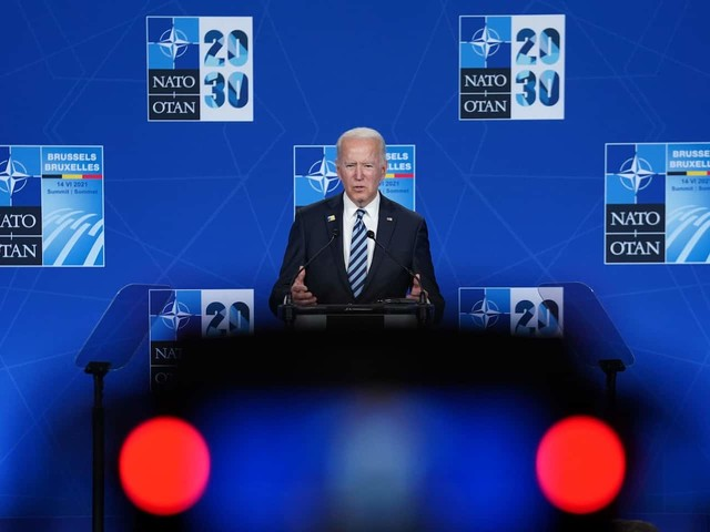 Meeting with allies, Biden says that America's 'back.' One question lingers: For how long?