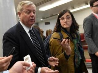 The Latest: Graham dismisses impeachment probe developments