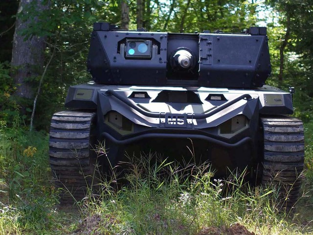 Soldier-controlled autonomous robots call for fire in test, attack targets