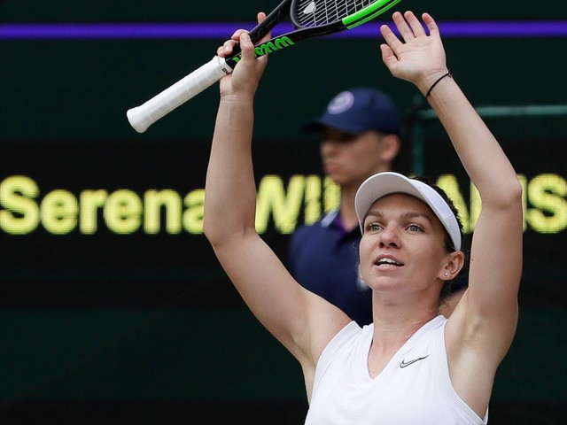 Simona Halep, in her first ever Wimbledon final, takes just 56 minutes to destroy Serena Williams