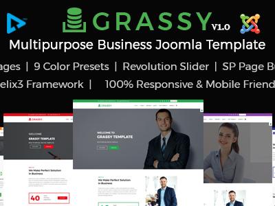 Grassy - Joomla Responsive Multipurpose Business Template (Corporate)