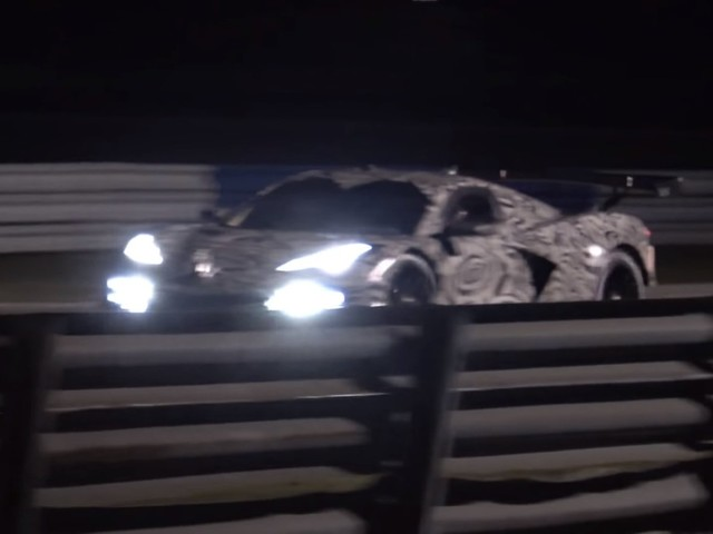 Here's the Chevy Corvette C8.R Testing at Sebring
