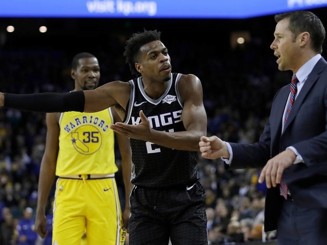 Joerger asks Hield, 'Why don't you just coach the f---ing team' during heated exchange