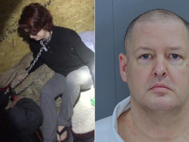 Videos show rescue of rape victim chained inside metal container by SC serial killer