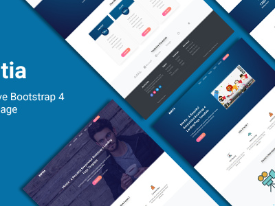 Montia - Responsive Bootstrap 4 Landing Page (Landing Pages)