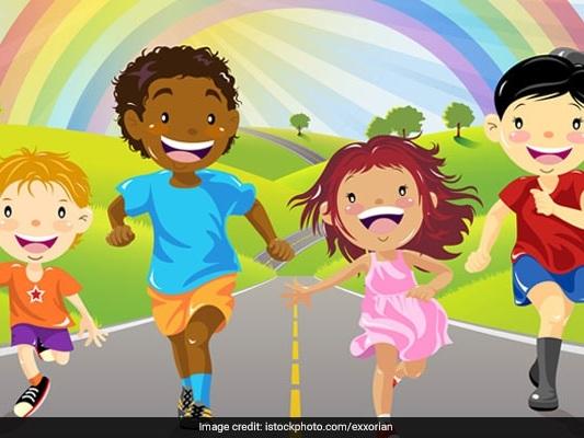 Children Design Stamps On Child Rights
