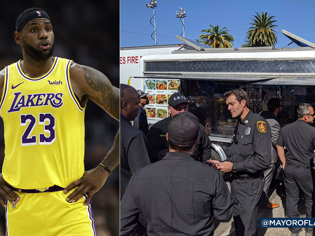 LeBron James sends taco truck to thank first responders for Getty Fire battle