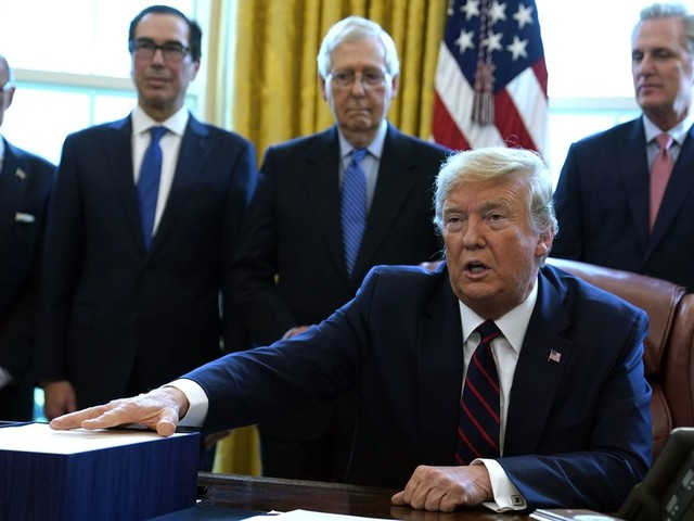 Trump signs $2 trillion economic plan to rush aid to businesses, workers hurt by coronavirus crisis