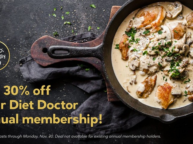 Diet Doctor Black Friday sale: Become an annual member for just $69!