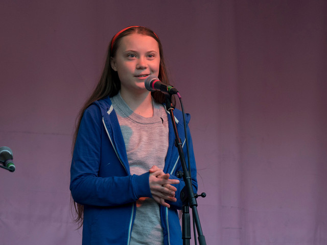 Greta Thunberg has nothing to say except what adults have taught her