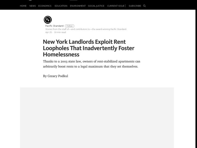 New York Landlords Exploit Rent Loopholes That Inadvertently Foster Homelessness