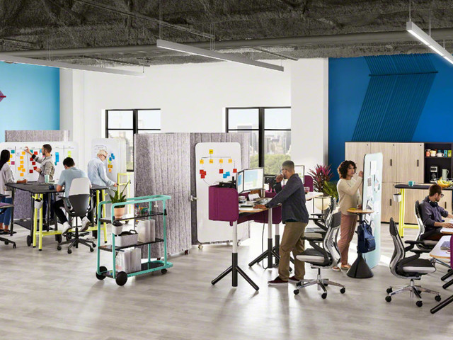 This clever office furniture helps you hack your open plan office hell