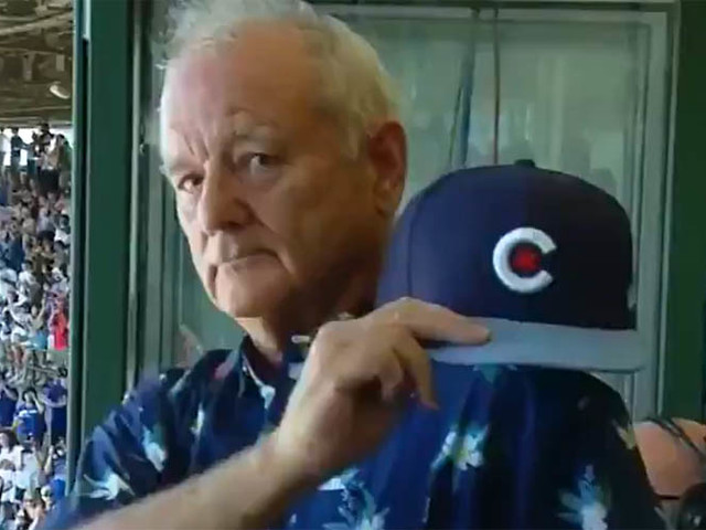 Bill Murray Sings 'Take Me Out to the Ball Game' at the Chicago Cubs' First Full Capacity Game in Over a Year