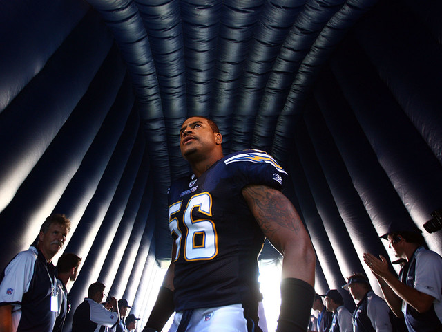 How former NFL star Shawne Merriman is muscling up for the world of MMA