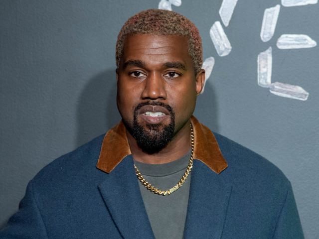 Kanye West now has tie-dyed rainbow hair