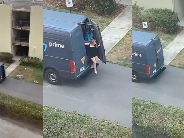 'This why my packages always late': Viral TikTok shows woman in the back of Amazon worker's truck, sparking speculation