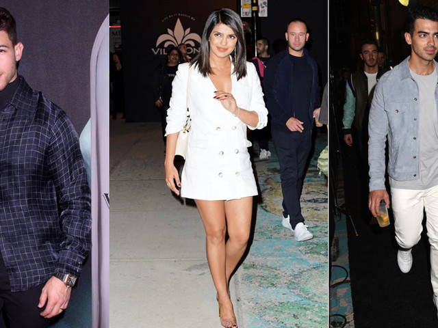 Nick Jonas Gets Support From Wife Priyanka Chopra, Sophie Turner & Brothers Joe & Kevin Jonas at Villa One Launch Party