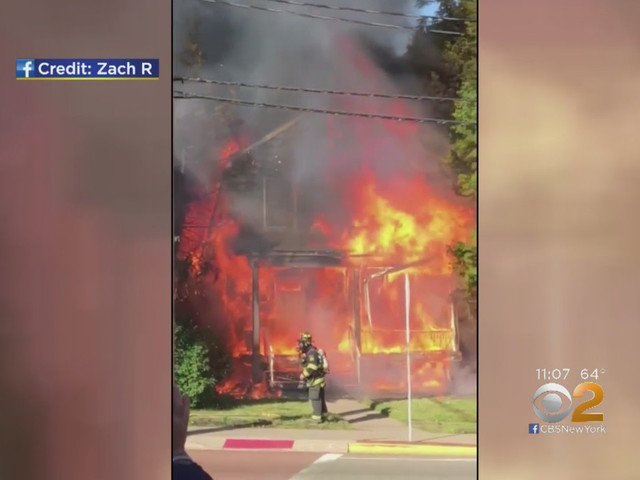 VIDEO: Intense Flames Rip Through Home In Bergen County, 2 Seriously Hurt