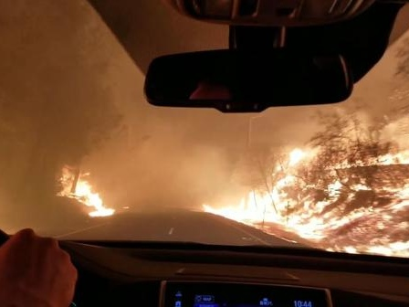 "Surreal Video Depicts Driver's Escape Through ""Tunnel Of Flames"" As NorCal Wildfires Spread"