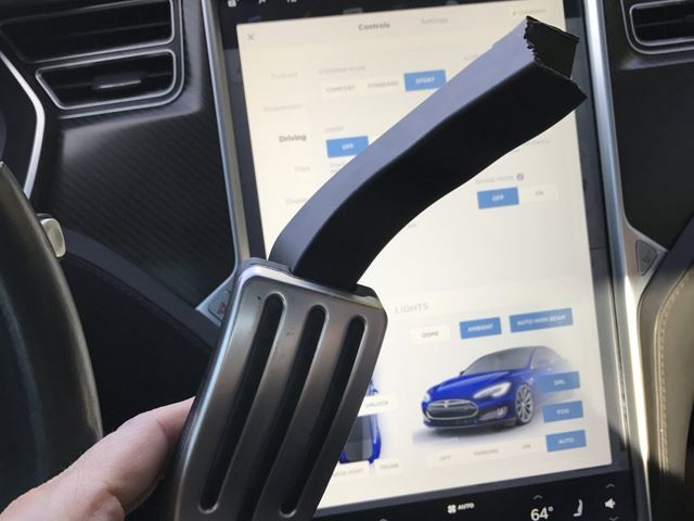 Tesla Model S Accelerator Pedal Snaps Off While Driving