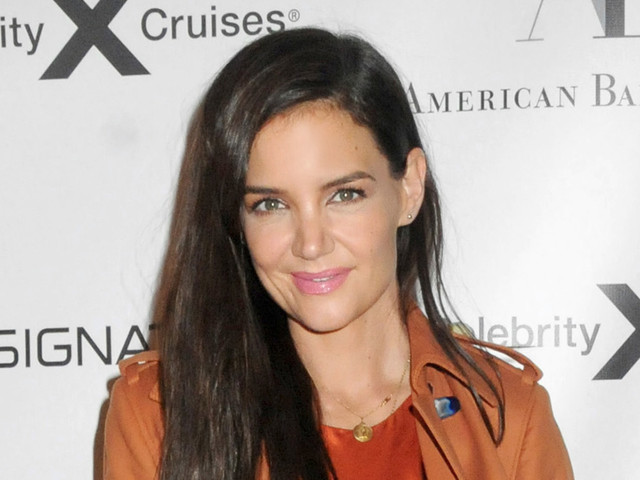 Katie Holmes Gives Out Halloween Vibe in Orange Silk Dress & Black Heels at Ballet Gala With Her Mom
