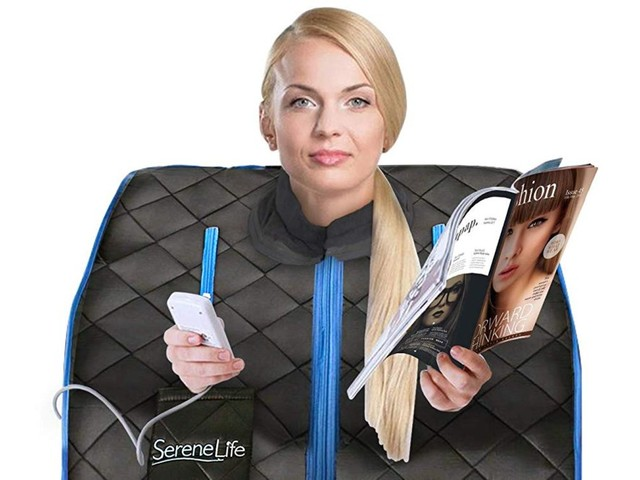 Infrared saunas have become so popular that Amazon is selling these bizarre-looking foldable spas that people can take with them anywhere (AMZN)