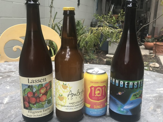 A tasting of ciders bottled in California
