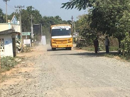 Years of bad road conditions leave residents of Kolathur village frustrated