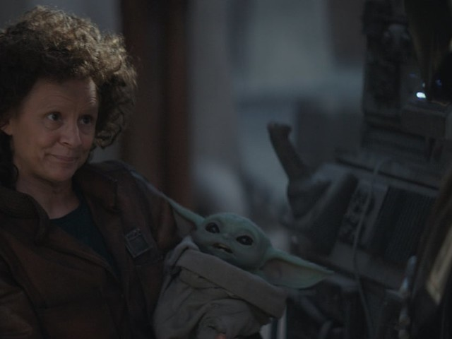 The Mandalorian: Twitter Has Decided Amy Sedaris Holding Baby Yoda Is the Best Part of 2019