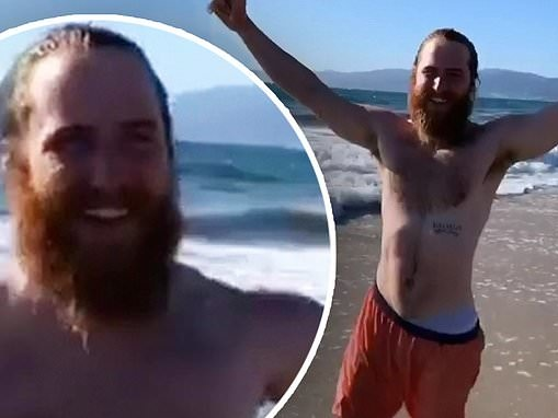 Mike Posner concludes SIX-MONTH cross-country walk from Asbury Park to Los Angeles