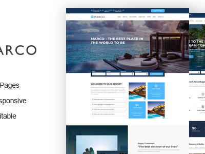 Marco - Resort and Hotel HTML Template (Travel)