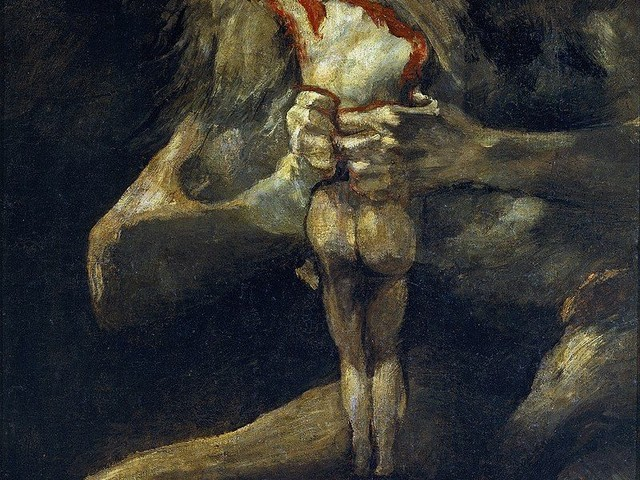 Goya's Saturn Devouring His Son in Balloons