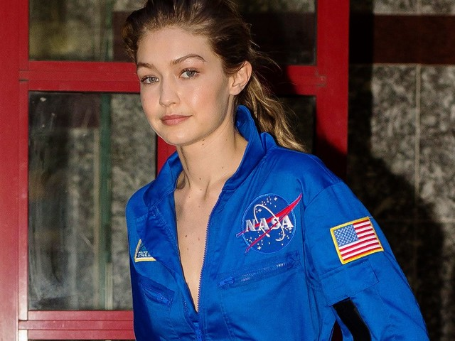 Gigi Hadid Raided The NASA Gift Shop After A Photoshoot
